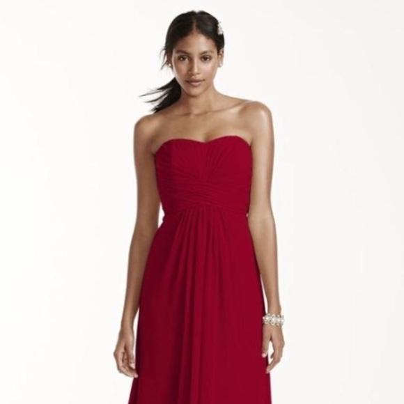 Apple Red Bridesmaid Dresses